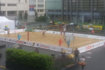 Amuzo – Týden plážových sportů Bratislava – pronájem mobilních kurtů